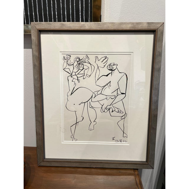 Jacques Chauvin Ink Drawing (1977) For Sale - Image 9 of 9