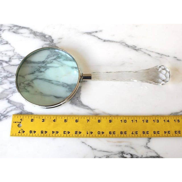 Very large Cut Crystal Handle Magnifying Glass Rare Fancy For Sale - Image 10 of 10