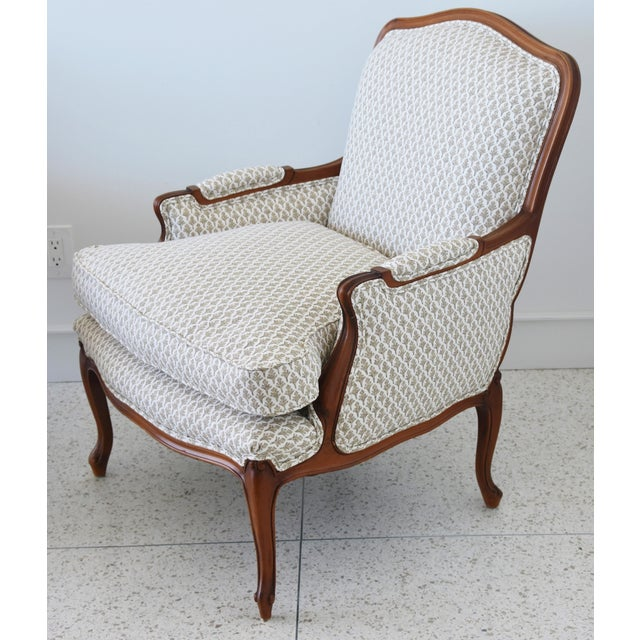 Vintage French-Style Newly Upholstered Bergere Chairs - Pair For Sale - Image 11 of 13