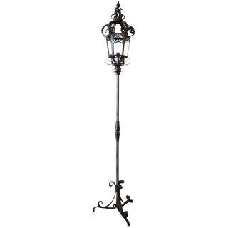 Wrought Iron Venetian Outdoor or Indoor Floor Lamp
