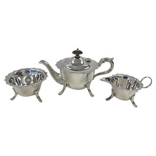 English Silver-Plate Tea Set, 3 Pieces For Sale