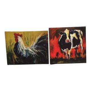 Farm Yard Animal Prints - A Pair