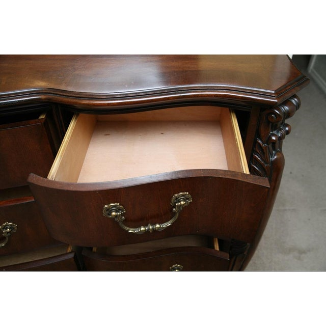 Contemporary Louis XV Style Dresser With Mirror - Image 6 of 9