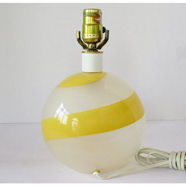 1980s Italian Glass Accent Lamp For Sale - Image 5 of 7