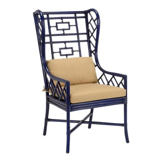 Gwyneth Rattan Wing Chair For Sale