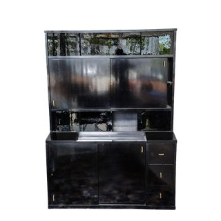 Pierre Chareau Ebonised Tall Cabinet, France 1925 For Sale