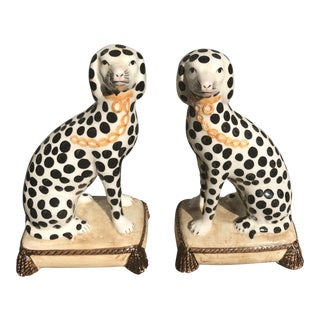 Fitz & Floyd Spotted Ceramic Dogs—A Pair For Sale