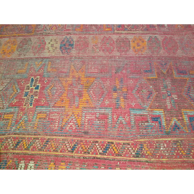 Late 19th Century 19th Century Moroccan Village Rug - 5′10″ × 14′5″ For Sale - Image 5 of 13