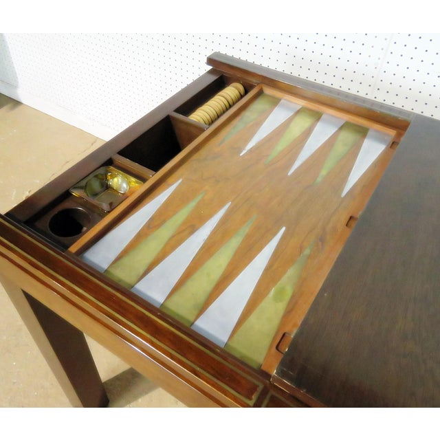 Mid Century Dunbar Game Table For Sale In Philadelphia - Image 6 of 7