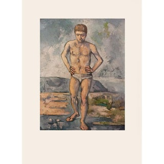 "1950s Paul Cezanne ""The Bather"" First Edition Photogravure For Sale"
