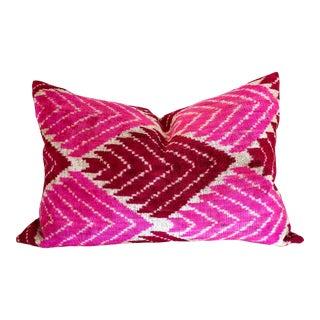 Pink & Maroon Geometric Lumbar Pillow