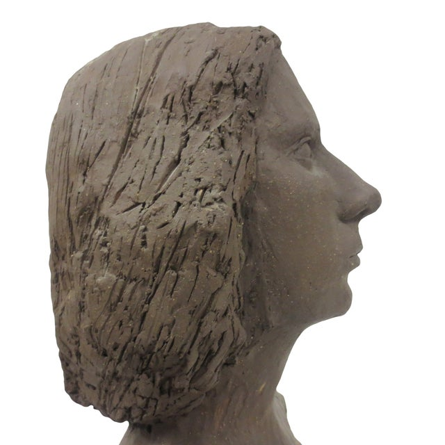 Terracotta Bust of Young Woman - Image 4 of 8