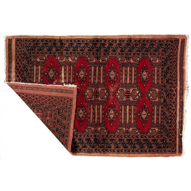 Vintage hand-knotted Persian rug with a geometrical pattern. This piece has great colors and a beautiful design. It would...