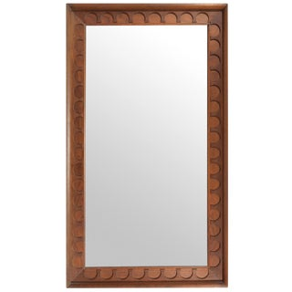 Walnut Framed Mirror by George Nelson/ Arthur Umanoff for Howard Miller For Sale