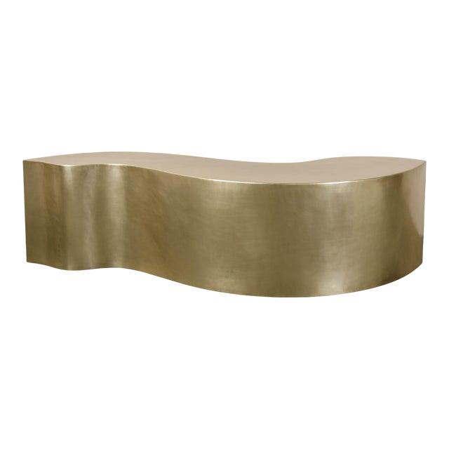 Dragon Bench - Brass by Robert Kuo, Hand Repousse, Limited Edition For Sale