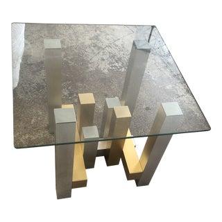 1970s Paul Mayen Cityscape Style Two Tone End Table For Sale