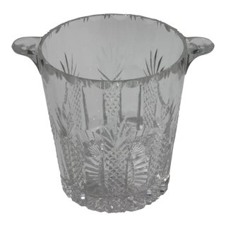Vintage Waterford Attributed Cut Crystal Ice Bucket For Sale