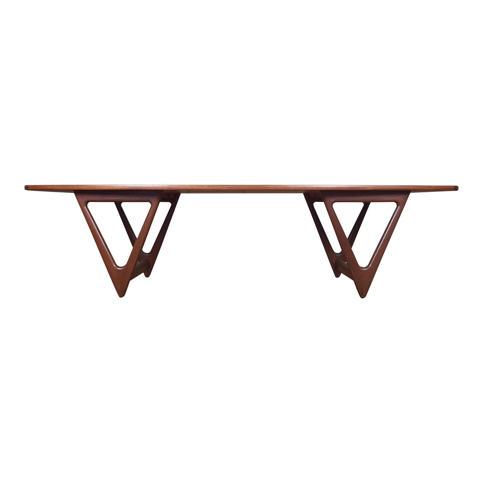 Mid Century Danish Modern Teak Coffee Table By Kurt Ostervig For