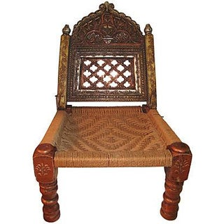Hand-Carved Meditation Chair For Sale
