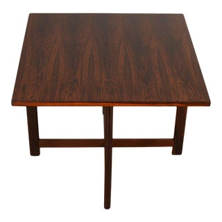 Danish Rosewood Square Accent Table For Sale