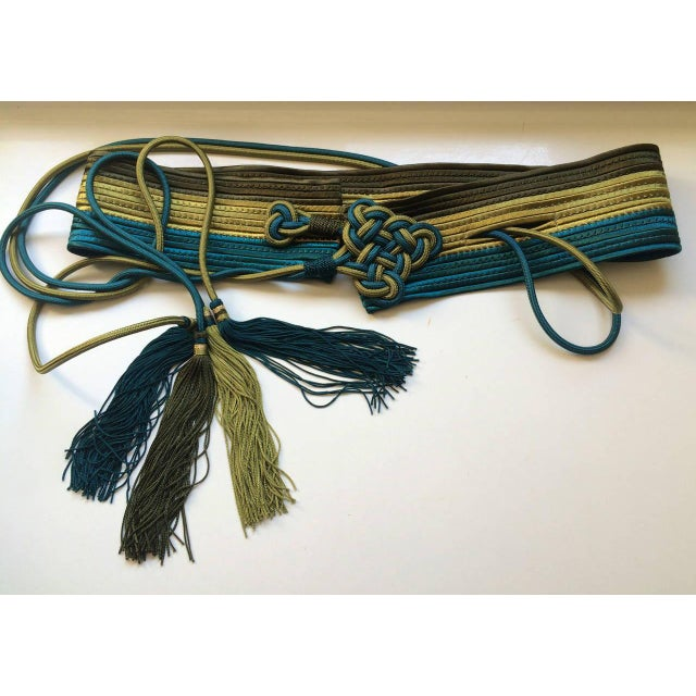 Modern Vintage Yves Saint Laurent Russian Collection Passementerie Tassel Belt Ysl For Sale - Image 3 of 12