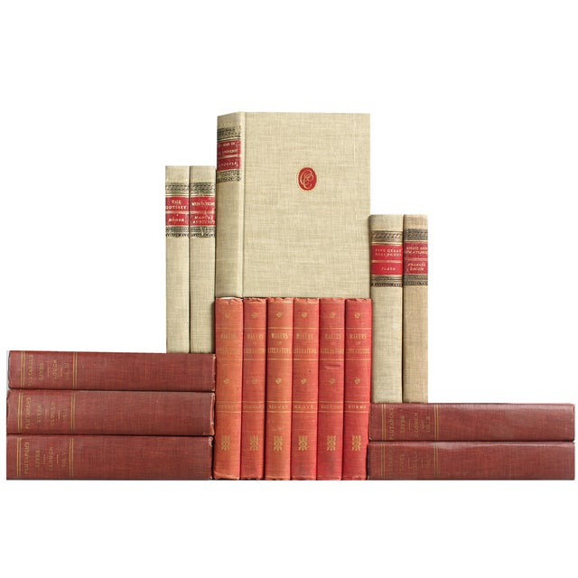 Red & Flax Midcentury Classic Books - Set of 16 - Image 3 of 4