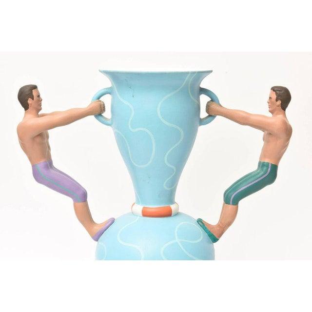 """Italian L""""Aquilone Hand-Painted Ceramic Vessel/ Vase/ Sculpture - Image 3 of 12"""