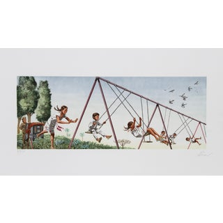 Vic Herman, Swinging High, Lithograph For Sale