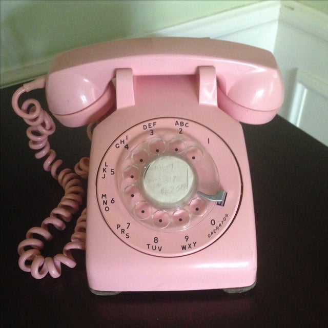 Vintage Pink Rotary Dial Telephone - Image 3 of 11