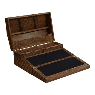 Antique Early 19th Century Ceylonese Palmwood Writing Box - Sri Lankan Anglo Indian For Sale