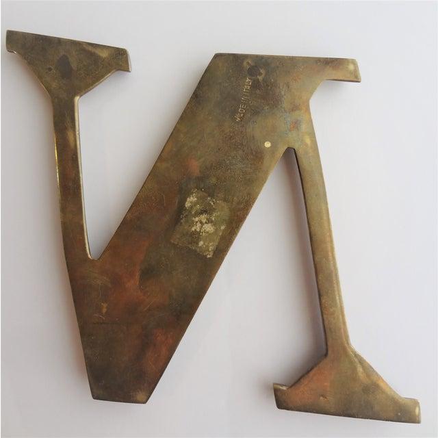Italian Brass Letter N - Image 3 of 4