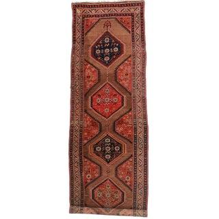"""RugsinDallas Vintage Persian Hamedan Wool Runner - 3'5"""" X 11'8"""" For Sale"""