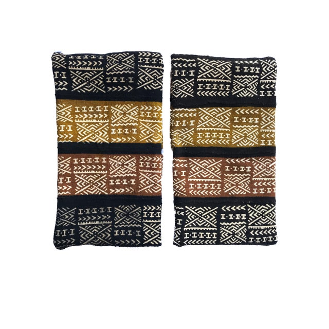1980s Pair of Bogolan Mali Mud Cloth Textile For Sale - Image 5 of 7