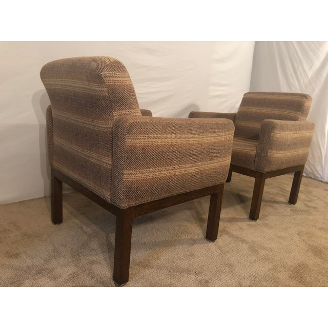 Orange 1980s Vintage Milo Baughman Conference Chairs- A Pair For Sale - Image 8 of 13