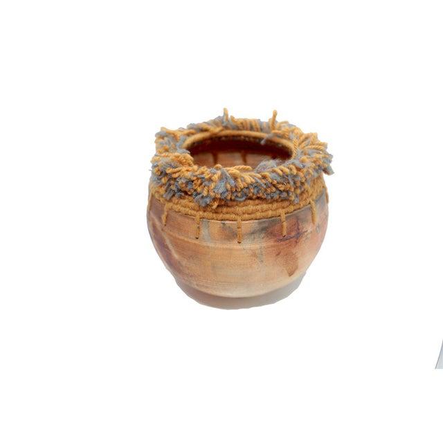 Handwoven Tassel Native American Southwestern Vase For Sale - Image 9 of 10