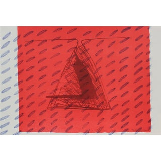 Gary Lee Shaffer 1990s Abstract Triangle Lithograph and Monoprint For Sale