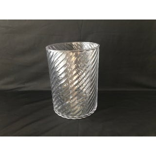 Vintage Sally Designs Acrylic Lucite Swirl Textured Waste Basket Preview