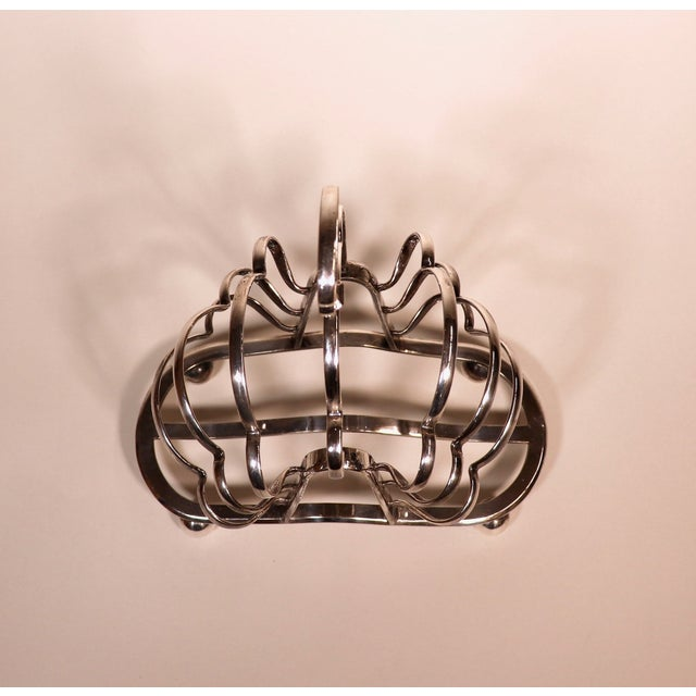 1950's English Silver Plated Toast Rack For Sale - Image 9 of 13