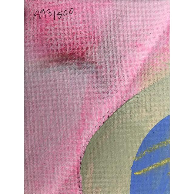 """Contemporary Abstract Portrait Painting """"Let's Have Some Fun, No. 2"""" - Framed For Sale - Image 9 of 10"""