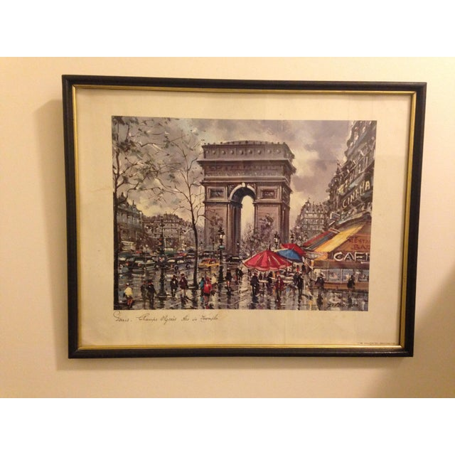 Vintage Framed April in Paris Print - Image 2 of 4