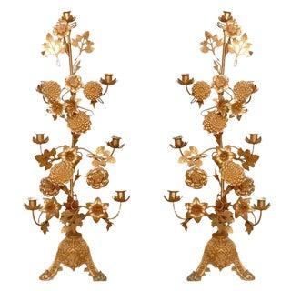 Gilt Bronze Candelabras - a Pair For Sale