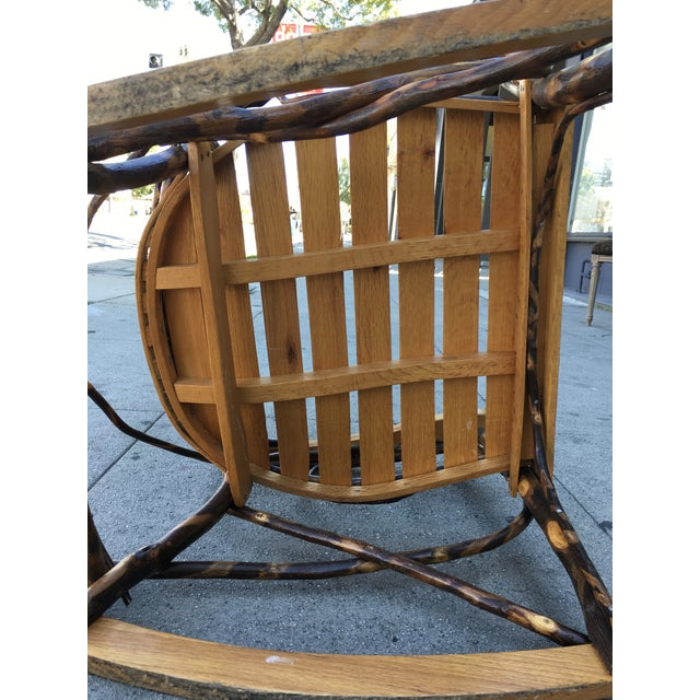 Late 20th Century Rustic Adirondack Oak and Hickory Twig Rocking Chair For Sale - Image 10 of 11