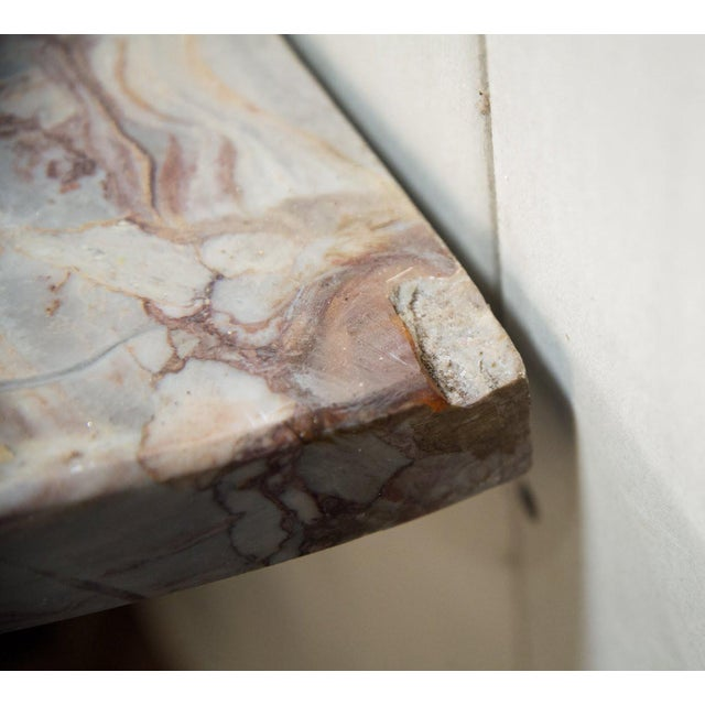 Mid-Century Italian Marble and Brass Demi-Lune Console Table For Sale - Image 12 of 13