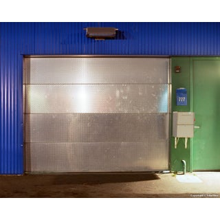 "Contemporary Night Photograph ""Shiny Door"" by John Vias For Sale"