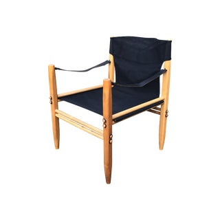 1960s Oasis Beech and Canvas Armchair by Franco Legler for Zanotta For Sale