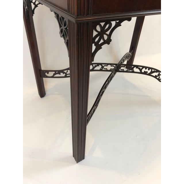 Chippendale Flame Mahogany Side Table For Sale - Image 11 of 13