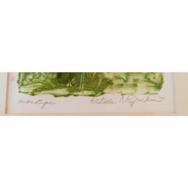 1990s Signed Estelle McGuckin Original Framed Monotype Print For Sale - Image 5 of 7