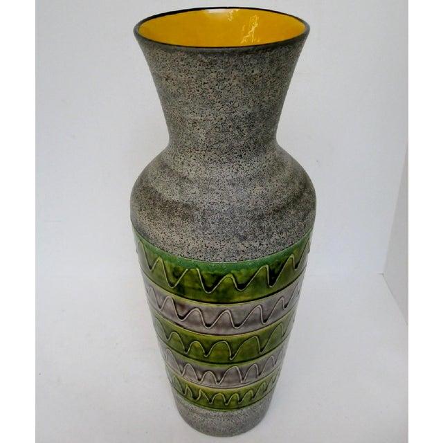 Late 20th Century West German Ceramic Floor Vase For Sale - Image 5 of 8