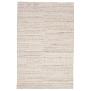 Jaipur Living Hermitage Hand-Knotted Trellis Ivory & Silver Area Rug - 5′ × 8′ For Sale