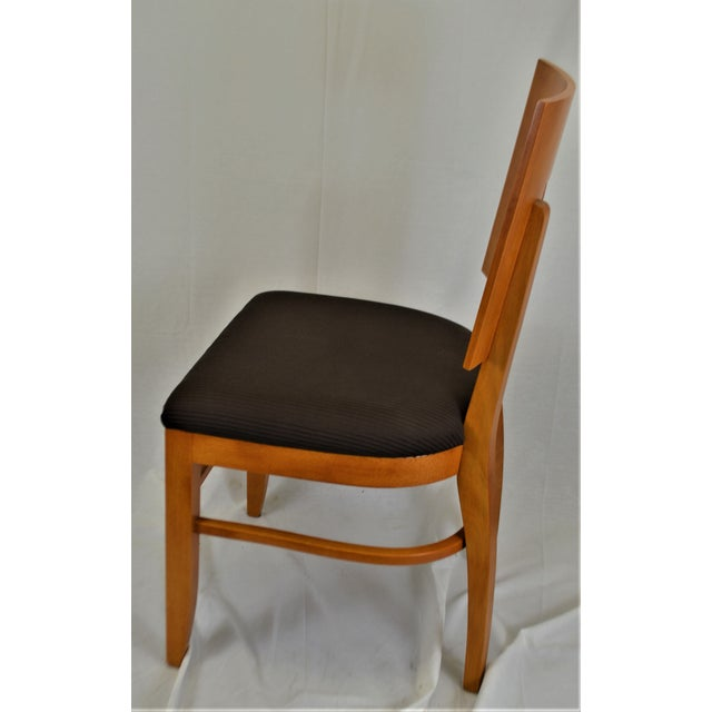 Contemporary Contemporary Square Back Wooden Dining Chair For Sale - Image 3 of 8